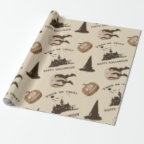 Vintage Halloween Wrapping Paper