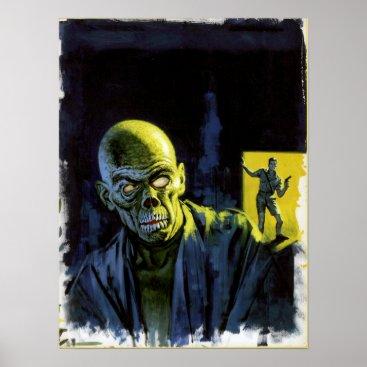 Halloween Themed Vintage Halloween Zombie Monster Horror Poster