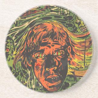 Vintage Halloween Zombies, Grafitti Street Art Coaster