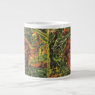 Vintage Halloween Zombies, Grafitti Street Art Giant Coffee Mug