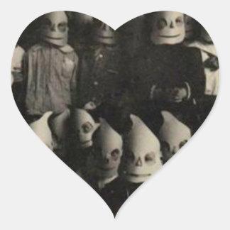 Vintage halloween's costumes photo in Ireland Heart Sticker