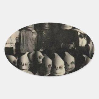 Vintage halloween's costumes photo in Ireland Oval Sticker