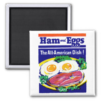 Vintage Ham and Eggs Refrigerator Magnets