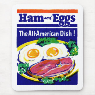 Vintage Ham and Eggs Mouse Pad