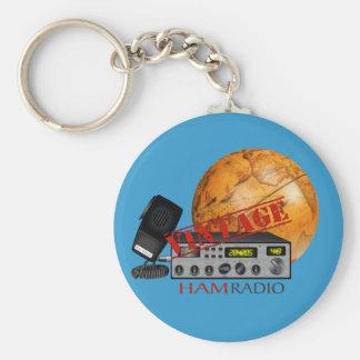 Vintage Ham (radio) Basic Round Button Keychain