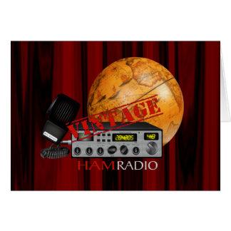 Vintage Ham (radio) Card