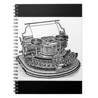 Vintage Hammond No. 2 Typewriter Spiral Notebook