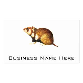 Vintage Hamster Illustration Business Card