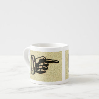 Vintage Hand and Pointing Finger Espresso Cup