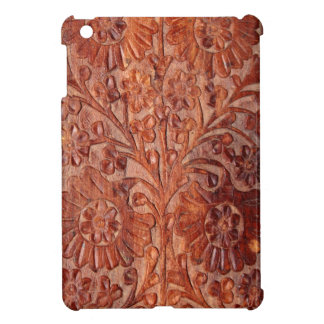Vintage Hand Carved Wood Cover For The iPad Mini