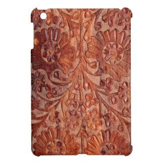Vintage Hand Carved Wood iPad Mini Cases