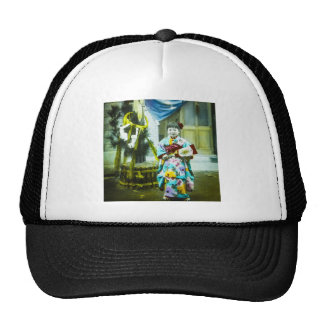 Vintage Hand Colored Shōjo Cute Japanese Girl Trucker Hat