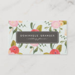 """Vintage Hand Drawn Flowers Business Card<br><div class=""""desc"""">Whimsical business card featuring hand drawn flowers. Similar items are available in my store.</div>"""