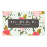 Vintage Hand Drawn Flowers Business Card