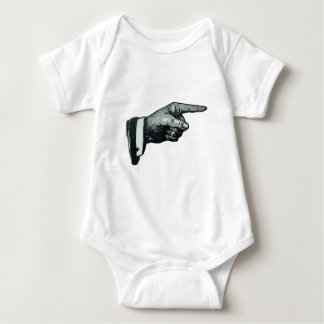 Vintage Hand Pointing Baby Bodysuit