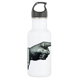 Vintage Hand Pointing Water Bottle