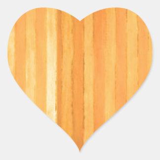 Vintage Handmade Golden Stripes - color match Heart Sticker
