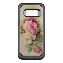 Vintage Handpainted Style Roses OtterBox Commuter Samsung Galaxy S8 Case