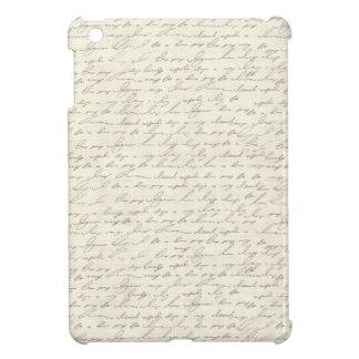Vintage Handwriting Design iPad Mini Cases