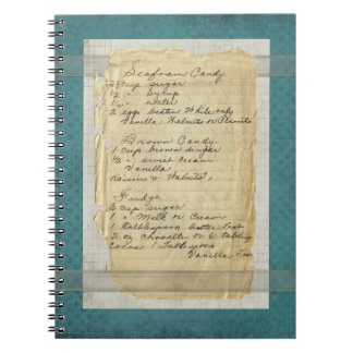 Vintage Handwritten Candy Recipes Note Book