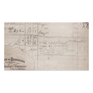 Vintage Handwritten Ledger Business Card