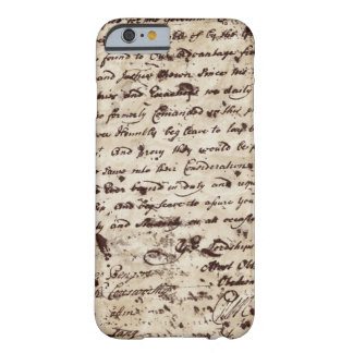 Vintage Handwritten Old letter Barely There iPhone 6 Case