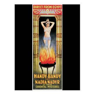 Vintage Handy-Bandy Magician Poster Postcard