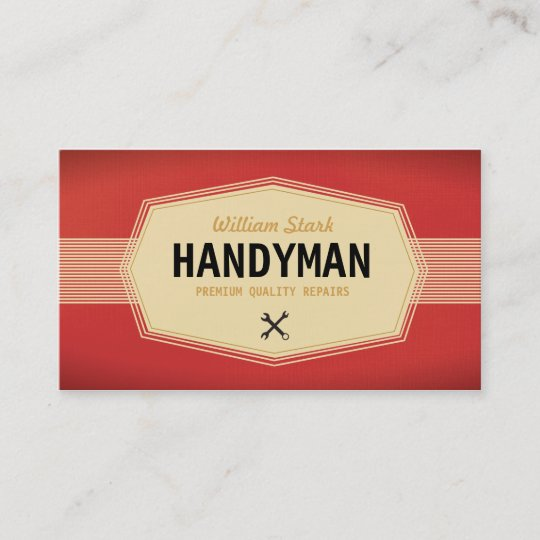 Vintage handyman business cards zazzle vintage handyman business cards colourmoves