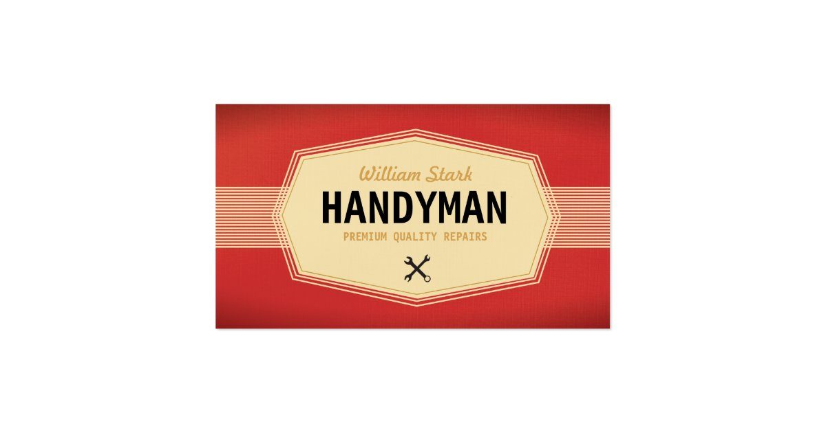 Vintage Handyman Business Cards Zazzle