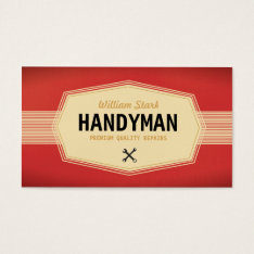 Vintage Handyman Business Cards at Zazzle