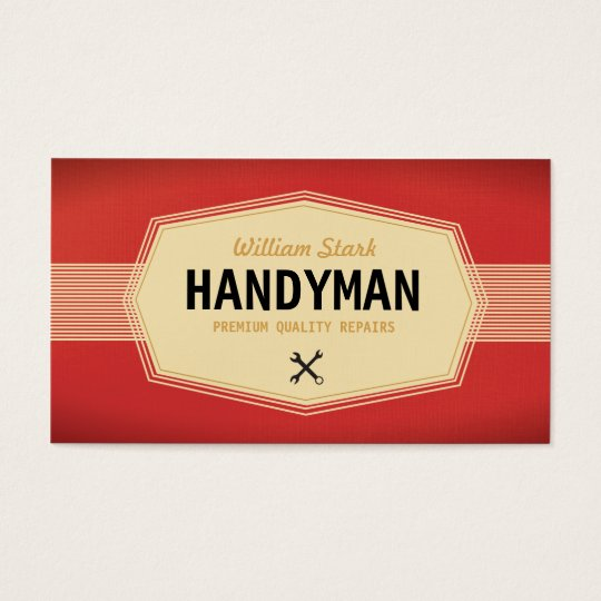 Vintage handyman business cards zazzle vintage handyman business cards reheart Choice Image