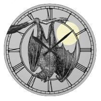 Vintage Hanging Bat Large Clock