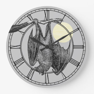 Vintage Hanging Bat Wall Clocks