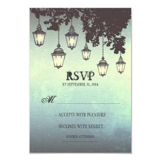Vintage hanging lamps WEDDING RSVP CARDS