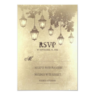 Vintage hanging lamps WEDDING RSVP CARDS