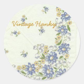 Vintage Hanky Stickers