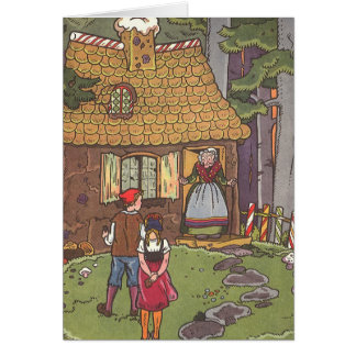 Vintage Hansel and Gretel Fairy Tale by Hauman Greeting Card