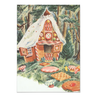 Vintage Hansel and Gretel Housewarming Party Card