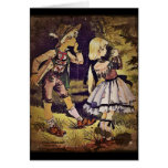 Vintage Hansel and Gretel See the Cottage Greeting Card