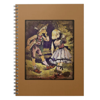 Vintage Hansel and Gretel See the Cottage Notebook