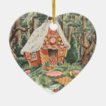 Vintage Hansel and Gretel; Witch's House of Candy Christmas Ornament