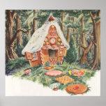 Vintage Hansel y Gretel; La casa de la bruja del c Poster