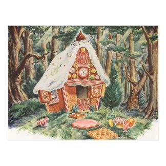 Vintage Hansel y Gretel; La casa de la bruja del c Tarjetas Postales