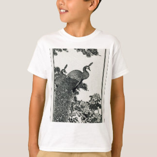 Vintage Hapiness Couple Peacocks and Peonies T-Shirt