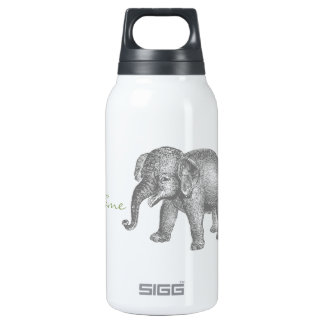 Vintage Happy Baby Elephant Insulated Water Bottle