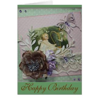 Vintage Happy Birthday-1 Greeting Card