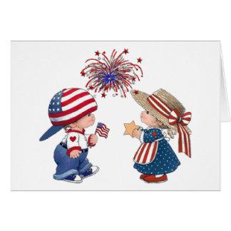 Vintage Happy Birthday America Card