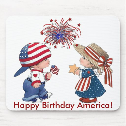 Vintage Happy Birthday America Mouse Pad