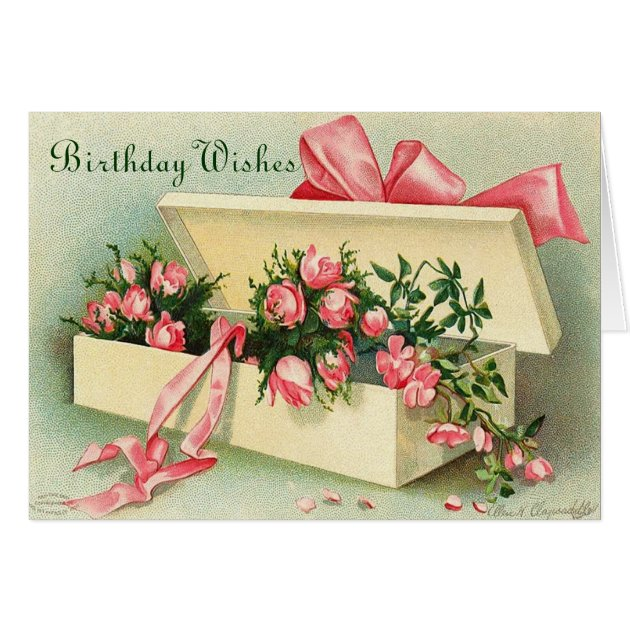 Vintage Flowers Birthday Cards ~ Free vintage birthday cards from the public domain free vintage