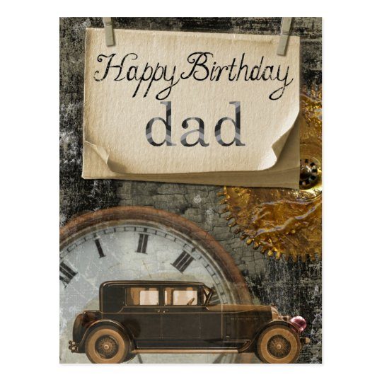vintage  u0026quot happy birthday dad u0026quot  postcard